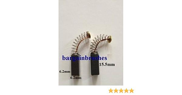 Carbon Brushes for Wolf Sapphire Saphire Sander Grinder 5205 CAP 6.2x6.2mm E63