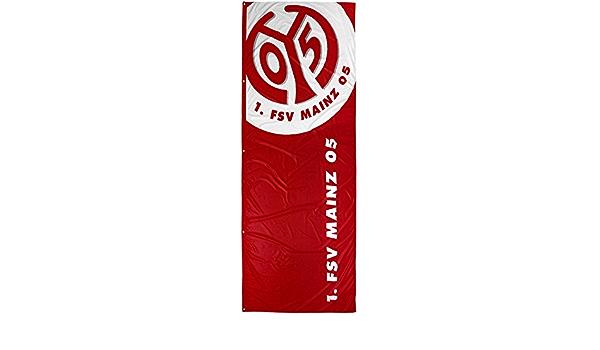 Hissflagge 1 Flaggenfritze/® 120 x 300 cm FSV Mainz 05 Logo