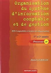 Organisation du système d'information comptable et de gestion : BTS comptabilité et gestion des organisations, 1re et 2e années : Processus 10