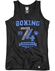 Boxing 1974 Thumbsdown Tank Top. Vest. Brooklyn Club Hard Knocks. Thumbsdown Last Fight. Gladiator Bloodline. Martial Arts. Fightwear. Training. Casual. Gym. MMA T-shirt