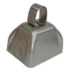 Silver Metal Cowbell - 12 Pack