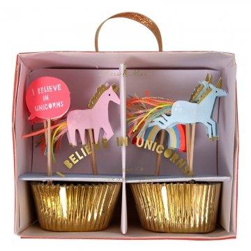 Meri Meri 45-2311 I Believe in Unicorns Cupcake Kit Novelty by Meri Meri