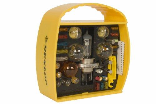 Dunlop 360066 Auto Beleuchtung Set H4, 32-teilig, Lampen & Sicherungen, 12V (Abblend-/ Nebel-/ Fernlicht)