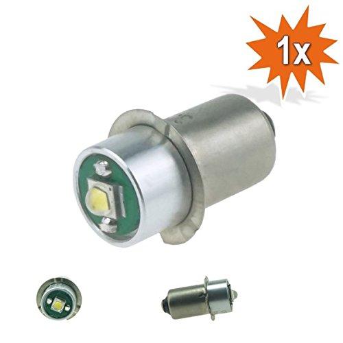 Preisvergleich Produktbild Do!LED P13.5s LED Cree Taschenlampe Lampe Weiss Birne 3 Watt 220 Lumen 3,2-9 Volt Gleichstrombetrieb DC