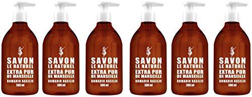 Savon le Naturel Romarin Basilic 500 ml - Lot de 6