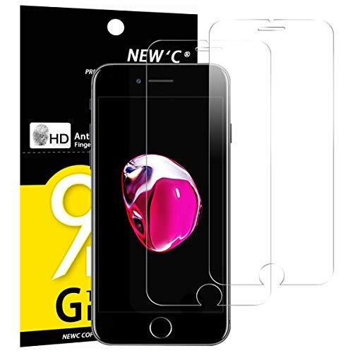 NEW'C PanzerglasFolie Schutzfolie für iPhone 7, iPhone 8, [2 Stück] Frei von Kratzern Fingabdrücken & Öl, 9H Härte, HD Bildschirmschutzfolie, kompatibeliPhone 7, iPhone 8