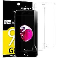 NEW'C PanzerglasFolie Schutzfolie für iPhone 7, iPhone 8, [2 Stück] Frei von Kratzern Fingabdrücken und Öl, 9H Härte, HD Displayschutzfolie, kompatibeliPhone 7, iPhone 8