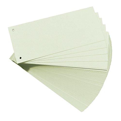 Falken Premium Karton-Trennstreifen 10,5 x 24 cm 100er Pack weiß Trennlaschen Trennblätter Ordner Register Blauer Engel