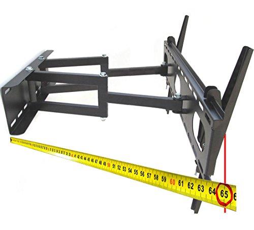 Fair Style Halterung schwenkbar ausziehbar +/- 15° geeignet für TV und Monitore bis 177 cm Diagonal (70 Zoll) mit VESA Normen in cm: 10x10 | 20x10 | 20x20 | 30x30 | 30x40 | 40x30 | 40x40 | 50x40 | 60x40, Wandabstand min 90 mm, max 670 mm geschweißte Gelenke, Farbe schwarz, universell passend für alle Monitore und TV-Marke, in bewährte Fair Style-Qualität, Model 6355