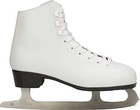 Nijdam Damen Schlittschuhe Figure Skate, Weiß, 38, 1004458