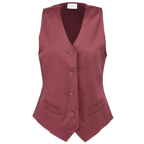 Premier Workwear Damen Anzugweste Ladies Hospitality Waistcoat Flaschengrün