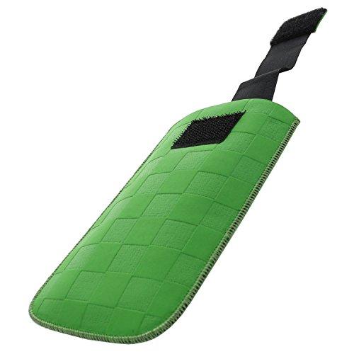 Handytasche mit Ausziehhilfe Size XXL passend für Archos 40 Power - Doro 1361 - Nokia Lumia 630 - Samsung B2710 Xcover 550 - Handy Tasche grün