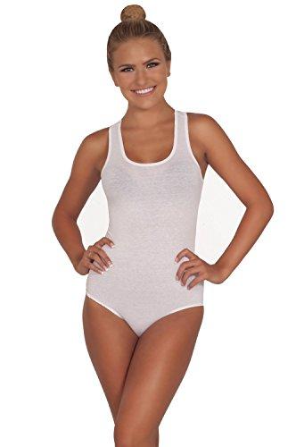 Ballerina inspiré une piece maillot sans manches à col rond blanc de neige