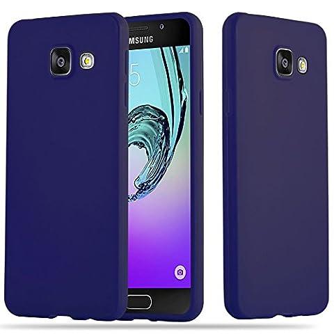 Cadorabo - Ultra Slim TPU Candy Etui Housse Gel (silicone) pour Samsung Galaxy A3 (6) (Modèle 2016) - Coque Case Cover Bumper en CANDY-BLEU-FONCÉ