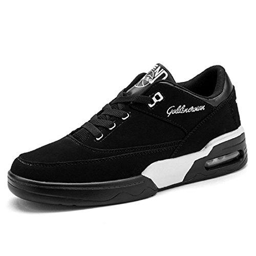 Uomo Moda Scarpe sportive Spessore inferiore Aumenta le scarpe formatori Scarpe da pallacanestro Scarpe da corsa Antiscivolo euro DIMENSIONE 39-44 black