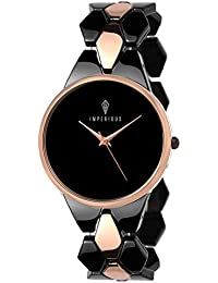 IMPERIOUS - THE ROYAL WAY Analogue Women's Watch (Black Dial Black Colored Strap)