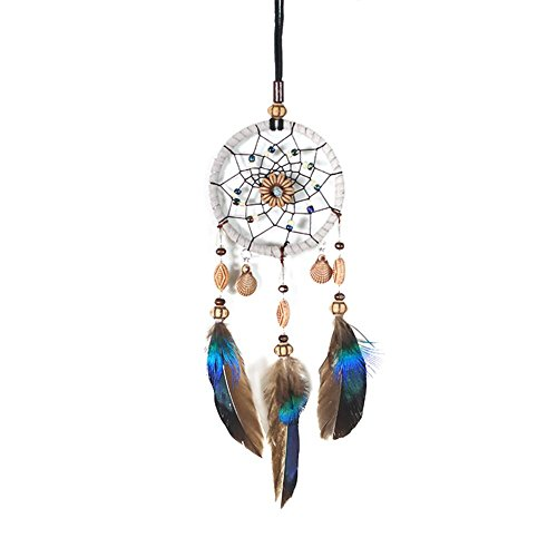 Tuankay Autoanhänger Spiegel - Dream Catcher Car Home Decor Feder Handgefertigter Indianischer Dreamcatcher (Catcher Decor Dream Home)