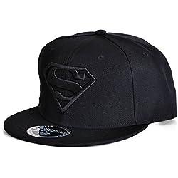 DC Comics Superman Hombre Gorra De Béisbol–Classic Logo Snapback Cap Negro