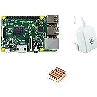 Starter Set : Raspberry Pi 2 Model B und offizielles Raspberry-Pi 2A Netzteil und Kupfer Kühlkörper