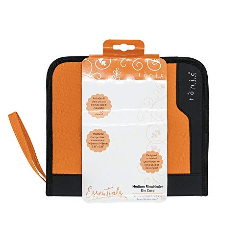 Tonic Studios 344E Bastelbedarf, Medium Ringbinder Case Includes 6 Clear Inserts & Magnetic Sheets