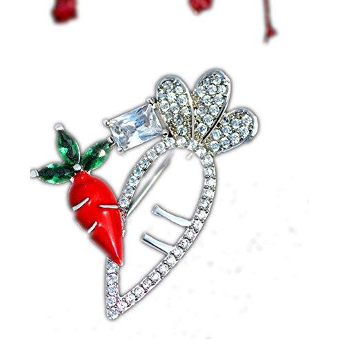 Cdet 1Pcs Karotte Form Damen Brosche Weihnachten Legierung Deko Frauen Brosche/Herren Brosche Anzug Brooch/Hochzeit Dekoration/Geburtstags Geschenk Pin,4.1 * 2.7cm