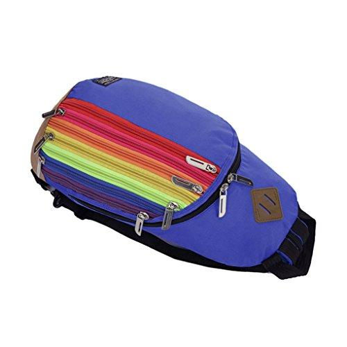 Liying Neu Rucksack Schultasche Schulrucksack Klein Umhängetasche Multifunktionrucksack für Outdoor Blau