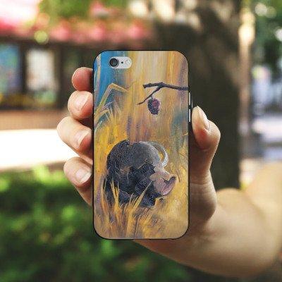 Apple iPhone X Silikon Hülle Case Schutzhülle Wüste Sand Gelb Silikon Case schwarz / weiß
