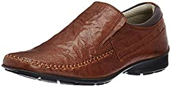 Franco Leone Mens Tan Leather Formal Shoes - 6 UK/India (40 EU)