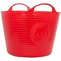 Tubtrugs Cubo Flexible Multiusos, Rojo, 33x33x23 cm