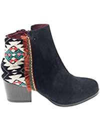 Desigual Black Indian Country, Botas Chelsea para Mujer
