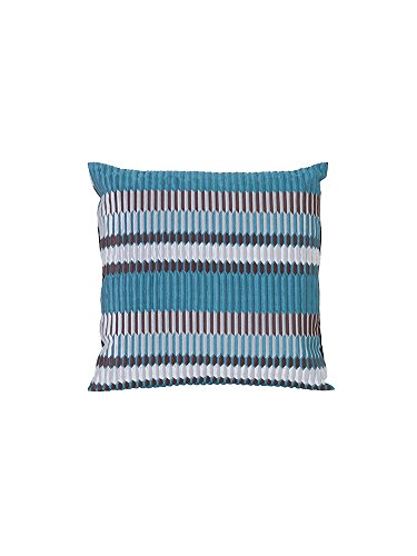 Ferm Living Kissen Salon Quadratisch Pleat Sea 40x40cm