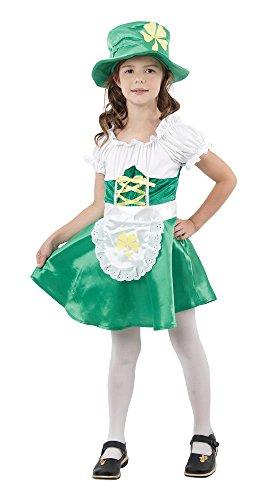 (Bristol Novelty irisches Kobold-Kostüm für Mädchen, weiß)
