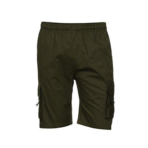 Shorts Männer Herren Sporthosen Arbeit Freizeithosen Armee Kampf Cargo Shorts GreatestPAK,Armeegrün,XXXL (Seamless Arm Warmers)