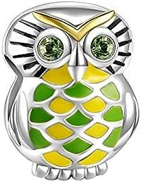 Soufeel Damen Beads Der Dschungel-Eule Charm 925 Sterling Silber