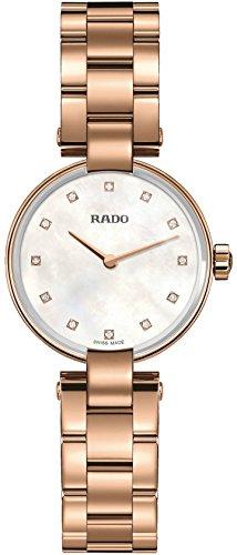 Rado coupole Nacre Cadran Plaqué Or Rose Montre Femme R22855923