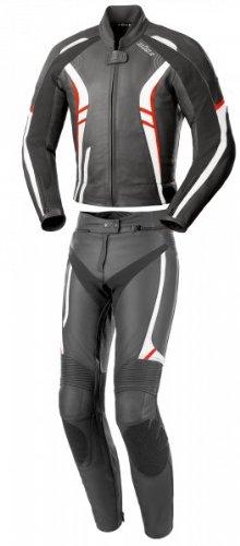 Büse 109102-38 Damenlederkombi Jerez, Schwarz/weiß/rot, Größe : 38