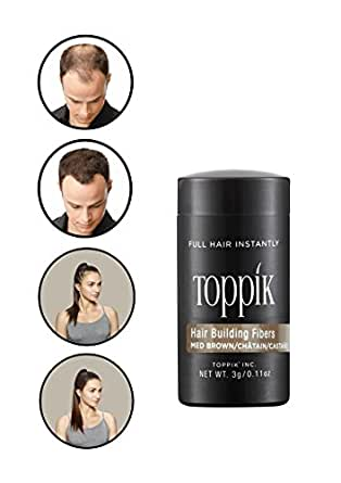 TOPPIK Hair Building Fibers medium brown 3 g
