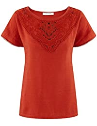 Promod T-Shirt mit Guipurespitze