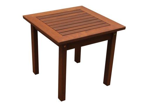 Viva Green - Table basse en bois exotique Tokyo - Maple - Marron clair - 50 x 50 x 45 cm