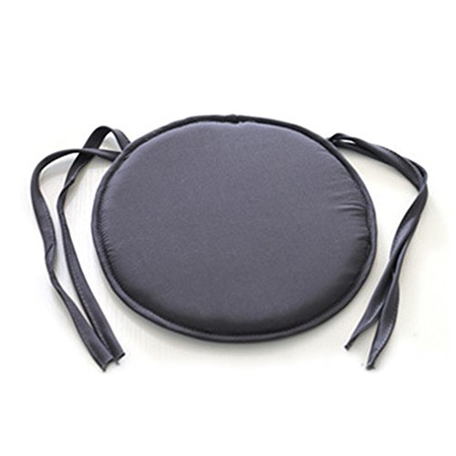 Uxradg cuscino tondo imbottiture dinning chair cuscino rotondo, 38cm*38cm, per interno ed esterno bar sala da pranzo da giardino casa ufficio cucina sfoderabile, dark gray, 38 * 38cm