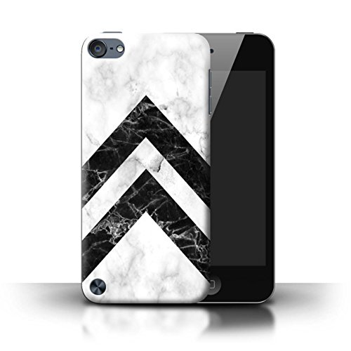 Stuff4® Hülle/Case für Apple iPod Touch 5 / Monochrome Chevrons Muster/Geometrisches Marmor-Muster Kollektion