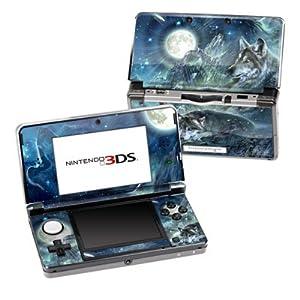 Nintendo 3DS Skin Schutzfolie 4-teilig für alle Seiten Design modding Sticker Aufkleber Wolf Bark at the Moon