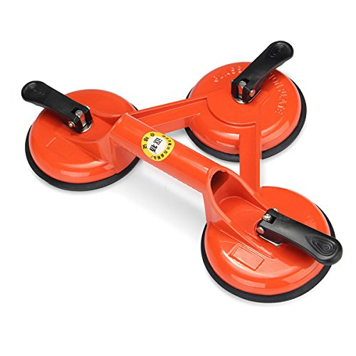 DyNamic 145Kg Heavy Duty 3 Suction Cup Triple Pad Sucker Plate Glass Lifter Carrier Tool