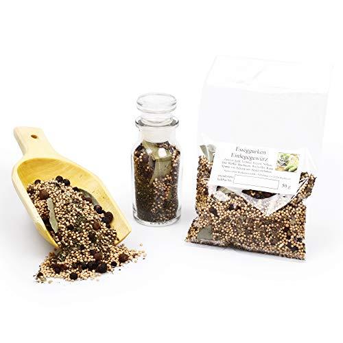 Einmachgewürz für Gurken | Gourmet Einlegegewürz ganz für Essiggurken, Gewürzgurken Einmachen & Einlegen glutenfrei 50g