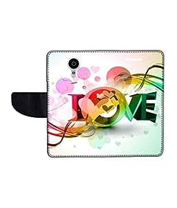 KolorEdge Printed Flip Cover For Gionee Elife E7 Multicolor - (55KeMLogo11654GioneeE7)