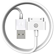 OPSO [Apple MFi Certified] Cable de sincronización y carga USB de 30 pines para Apple iPhone 4 4S, iPod y iPad 3ª Generación - 4,0 pies (1,2 metros) - Blanco