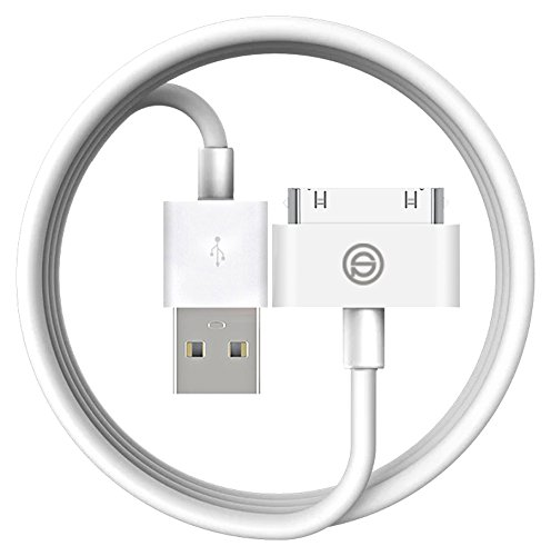 OPSO [Apple MFi Certified] Cable de sincronización y carga USB de 30 pines para Apple iPhone 4 4S, iPod y iPad 3ª Generación   4,0 pies (1,2 metros)   Blanco