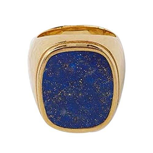 Selia Lapis Lazuli Ring Fashion Gold Glossy Ladies Girls ' Aristokratische Romantische steirische Ring Temperament Ornament