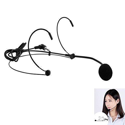 Andoer® Unidireccional Micrófono Montado en la Cabeza Auriculares Di