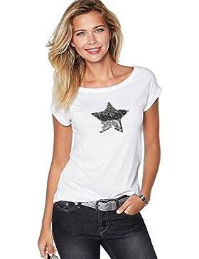 VENCA Camiseta Escote Redondeado y Manga Corta by Vencastyle